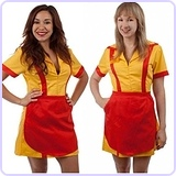 2 Broke Girls Max and Caroline Diner Waitress Costume