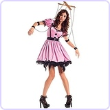 Pink Marionette Adult Costume - Small
