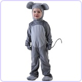 Little Boys' Mouse Costume, 18 Months
