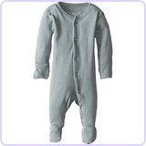Unisex-Baby Organic Cotton Footed Overall, Seafoam, 6/9 Months