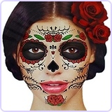 Day of the Dead Sugar Skull Temporary Face Tattoo Kit - Pack of 2 Kits