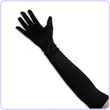 Classic Opera Length Satin Gloves