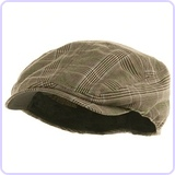 Men's Plaid Ivy Newsboy Cap Hat