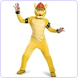 Bowser Deluxe Costume, Small (4-6)