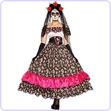 Day Of Dead Spanish Lady Costume