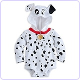101 Dalmations Puppy Costume Hooded Size 9 - 12 Months