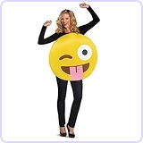 Tongue Out Emoji Costume