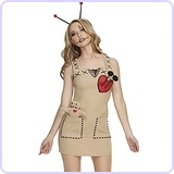 Women's Voodoo Doll Costume, Medium