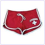 Lifeguard Womens Hi-Cut Short (XLarge, Red)