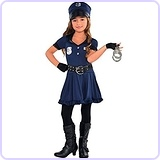 Policewoman Costume, Children's Toddler (3-4), 6-Piece Set