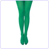 Women's Semi Opaque 80 Denier Footed Pantyhose Tights Green