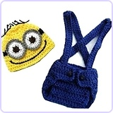 Baby Crochet Despicable Me Hat Diaper Minion Costume