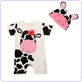 Cute Animal Baby Costume Jumpsuit and Hat (6-12 Months)