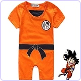 Toddler Dragon Ball Goku Onesie Jumpsuit Romper