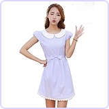 Women's Fresh Doll Collar Short Sleeve Dress