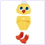 New Born Baby Handmade Benie Chicken Costume