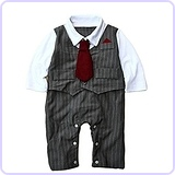 Baby Boy Formal Party Wedding Tuxedo Waistcoat Outfit Suit