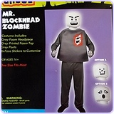 Mr. Blockhead Zombie Adult Costume