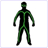 Light Up Stick Figure Costume Kit