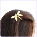 1pc Gold Dragonfly Hair Clip