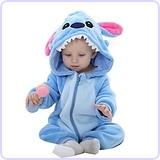 Unisex Baby Flannel Romper Stitch Suit