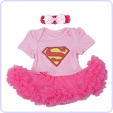 Supergirl Newborn Baby Girl Costume