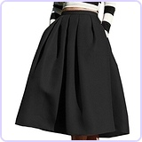Women's High Waisted Full Midi Skirt