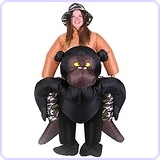 Inflatable Adult Carry On Gorilla Costume