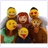 Emoji Vacuform Party Masks (Pack of 6)