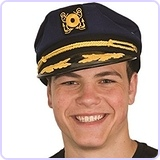 Navy Blue Captain Cap