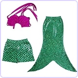 Little Girls 3 Pcs Princess Mermaid Costume