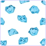 "1"" Acrylic Color Ice Rock Crystals Treasure Gems (385 Pieces)"
