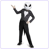 Jack Skellington Child Classic Nightmare Before Christmas Disney Costume, Medium (7-8)