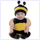 Baby Girls Bumble Bee Costume, 0/6 Months