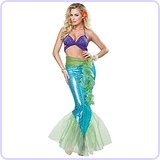 Mermaid Adult Costume, Medium
