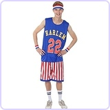 Mens Harlem Globetrotters Basketball Costume Extra Large