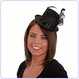 Felt Mini Top Hat (Black)