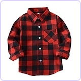 Little Boys' Cotton Long Sleeve Shirt, 24M