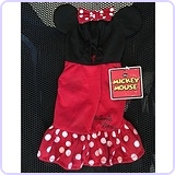 Disney Minnie Mouse Dog Dress Hoodie Costume, Medium