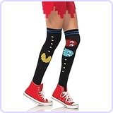 Pac Man and Ghost Over The Knee Socks