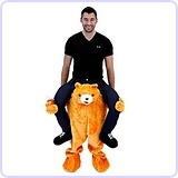 Men's Piggyback Bear Ride-On Costume, Adult Standard