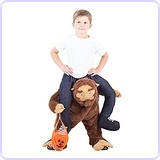 Piggyback Sasquatch Ride-On Costume, Youth