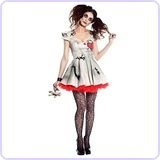 Womens Voodoo Doll Costume (X-Large)