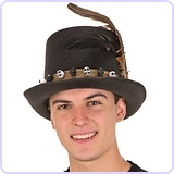 Men's 6 Inch Deluxe Voodoo Witch Doctor Hat