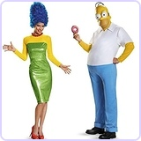 The Simpsons Homer (XXL) and Marge (M) Bundle Set