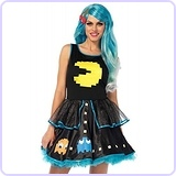 Pac Man Game Dress Woman Halloween Costume
