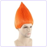 Troll Wig, Orange Adult