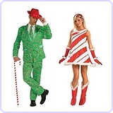 Christmas Candy Cane Men And Candy Cane Jane Women Couples Costumes