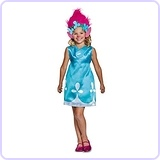 Poppy Classic W/Headband Trolls Costume, Medium (7-8)