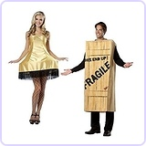 Christmas Story Wooden Crate Men And Leg Lamp Women Couples Costumes
